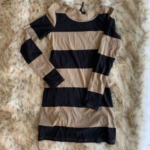 H&M mini long sleeve striped dress